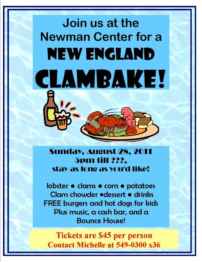 Summer clambake!
